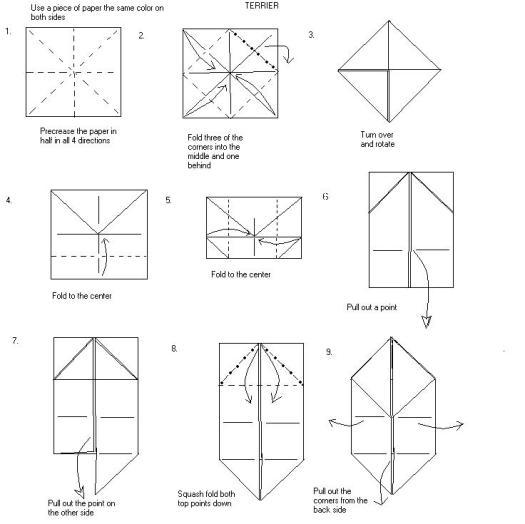 origami tetrahedron instructions