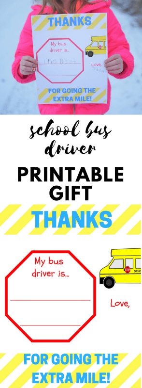 Bus Driver Appreciation Printable - Thanks for Going the ...