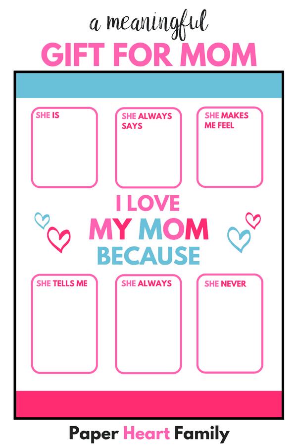 I love my mom because- say I love you mom