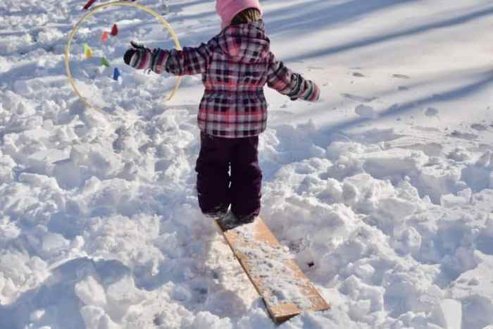 snow obstacle course