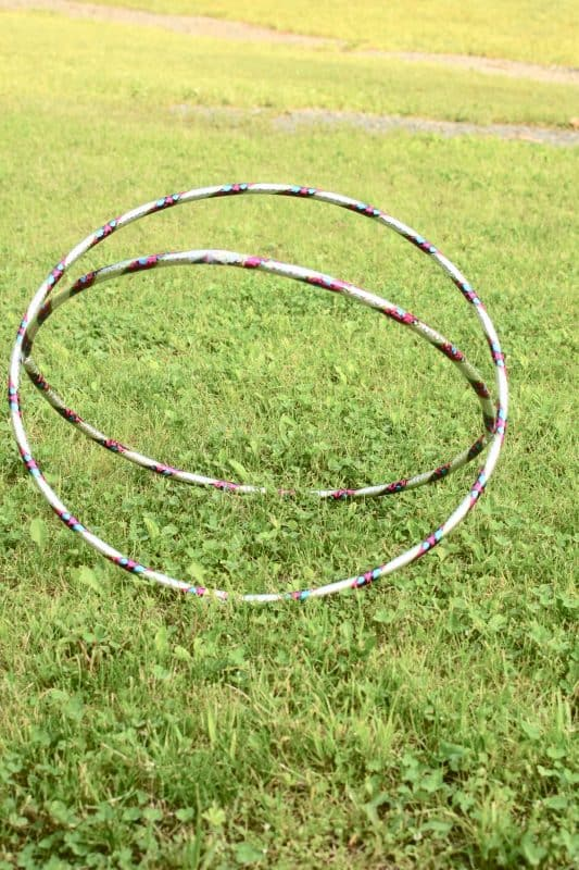 outdoor summer games- hula hoop crawl
