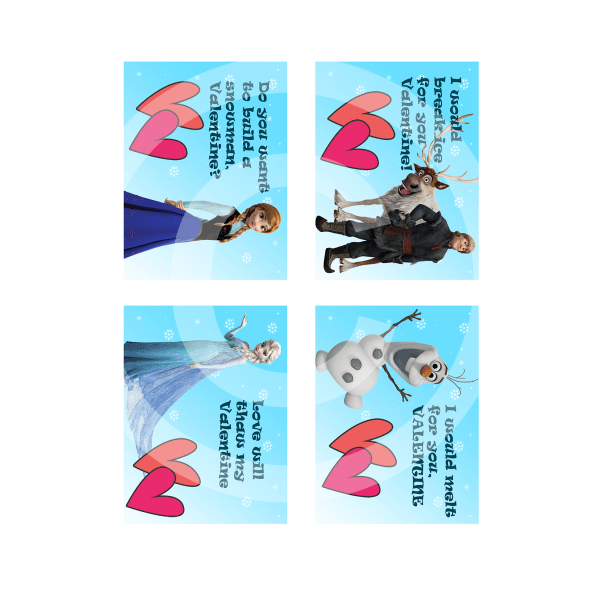 Frozen Valentines For 500 Valentines Day Cards