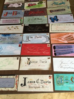 Envelopes by Bill Lilly mailed to guild member Jim Davis