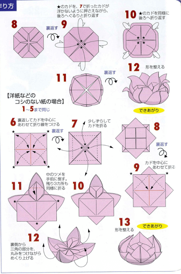Origami lotus flower tutorial paper kawaii and a video to help mightylinksfo