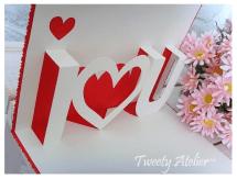 Pop up Valentines Card template I ♥ U via @paper_kawaii