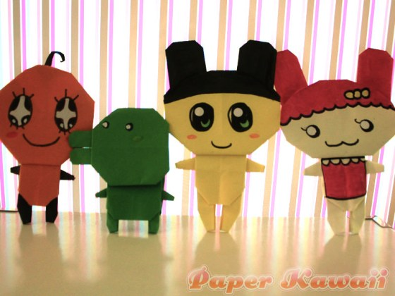 Origami Tamagotchi Crafts Tutorial via @paper_kawaii
