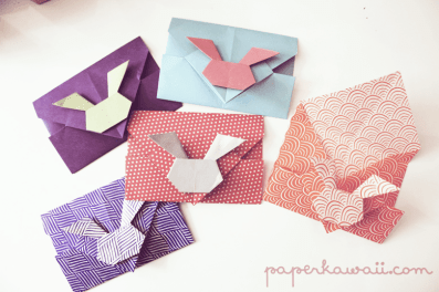 Video Tutorial – Origami Bunny Rabbit Envelopes
