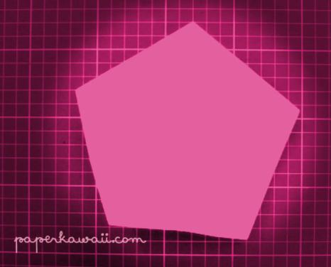 How to make a paper pentagon