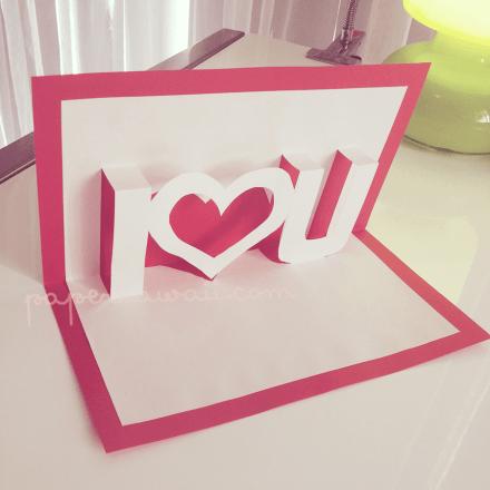 Pop up card tutorial - Valentines day via @paper_kawaii