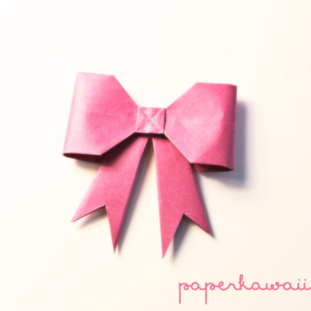 Origami Bow Tutorial via @paper_kawaii