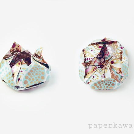 Origami Pumpkin Tato Video Tutorial via @paper_kawaii