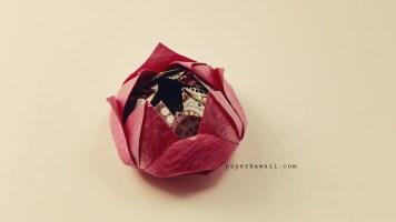 Easy origami lotus tutorial 02
