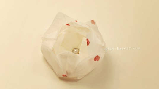 Easy origami lotus tutorial 05