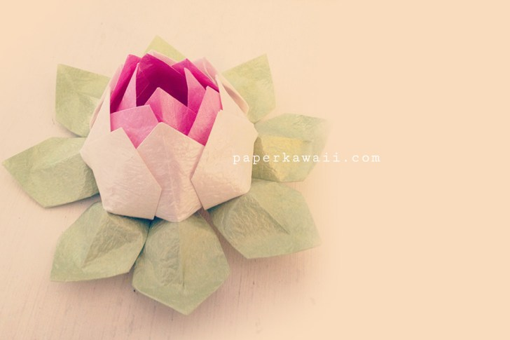 How to make a traditional origami lotus flower: page 21 | 485x728