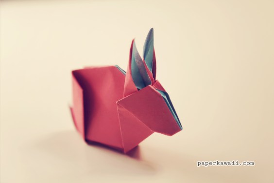 Origami Bunny Rabbit Tutorial & Diagram