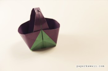 Origami Easter Basket Tutorial via @paper_kawaii