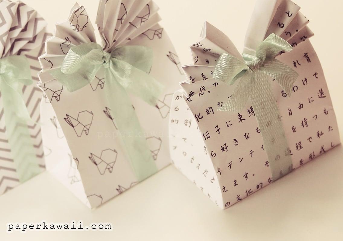 origami gift bag tutorial