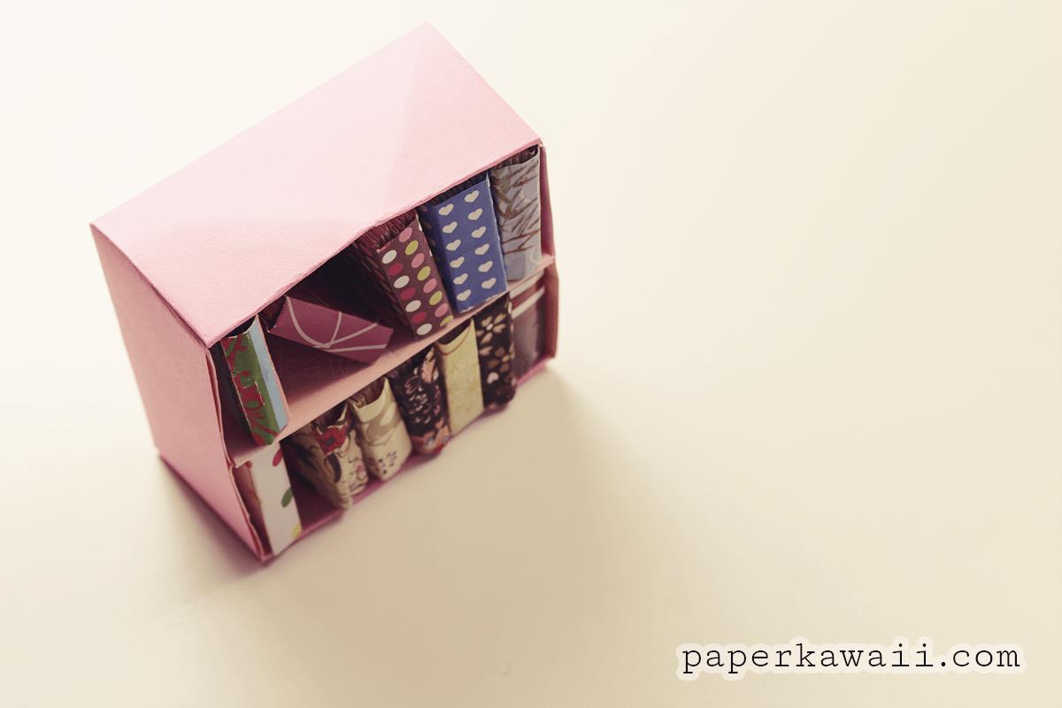 Modular Origami Bookcase - Video Tutorial - Paper Kawaii - photo#40