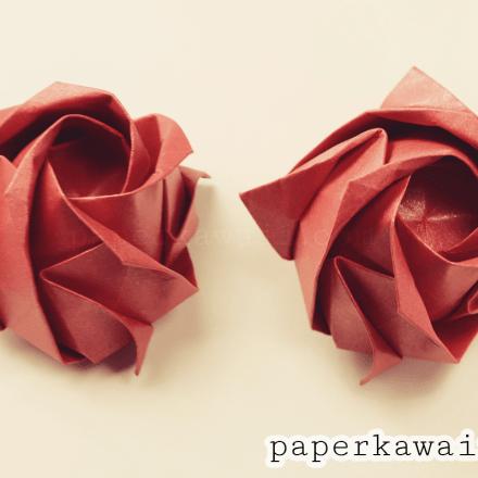 How To Fold A Beautiful Origami Napkin Rose via @paper_kawaii