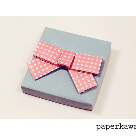 Origami 3D Bow Video Tutorial via @paper_kawaii