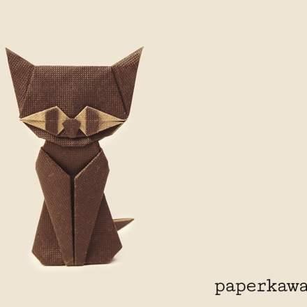 Origami Batty Bat Tutorial via @paper_kawaii