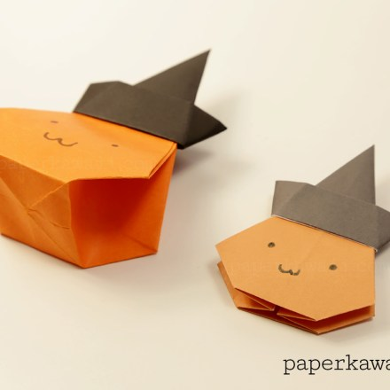 Easy Origami Ghost Tutorial For Halloween via @paper_kawaii