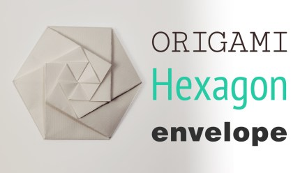 Origami Hexagonal Envelope Pouch Video Tutorial