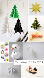 Christmas Origami 2014 Round Up