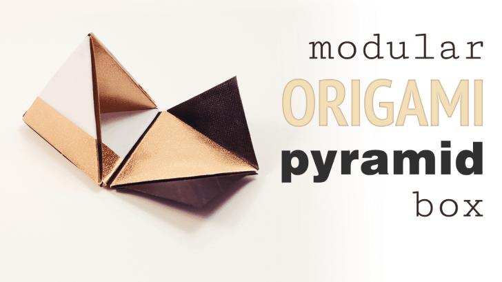 Modular Origami Pyramid Box Video Tutorial via @paper_kawaii