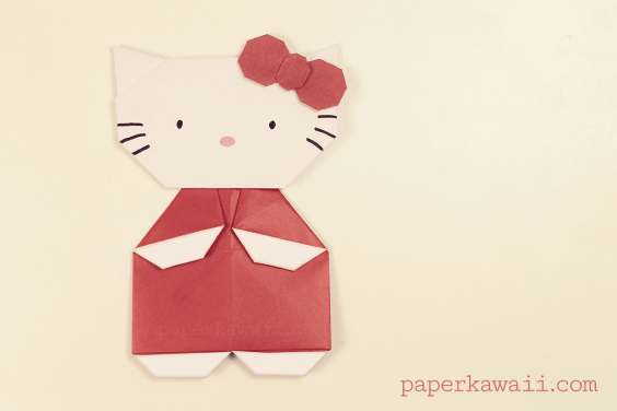 Origami Hello Kitty Video Tutorial