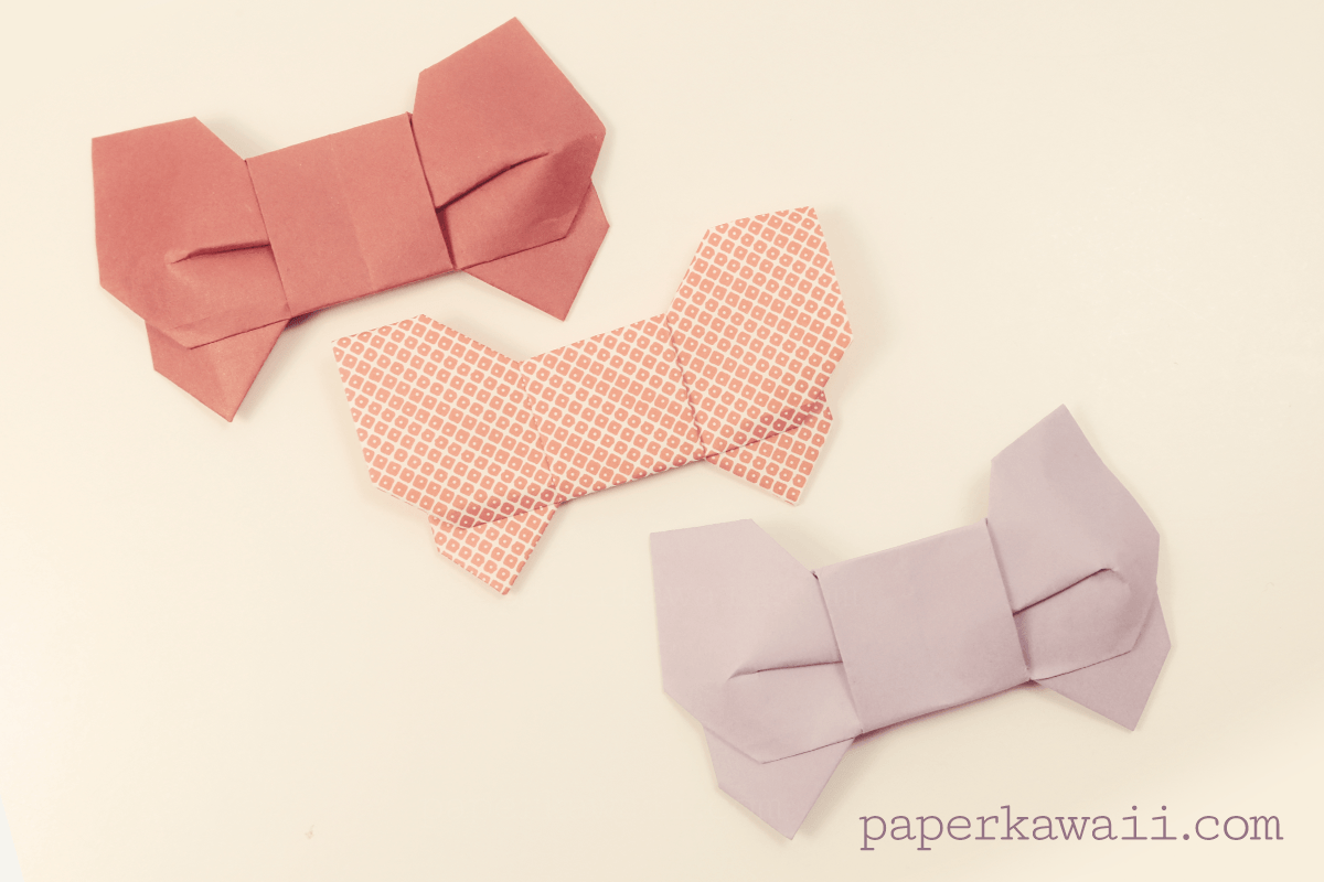 Paper Kawaii Free Origami Instructions Photo Video Tutorials Labels Diagrams 3d Chinese Dragon Bow Tutorial