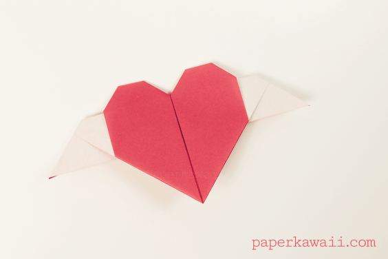 Origami Heart With Wings Video Tutorial