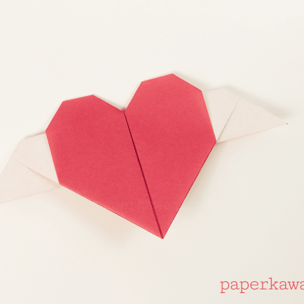 Origami Heart Necklace Tutorial - Heart Letterfold via @paper_kawaii