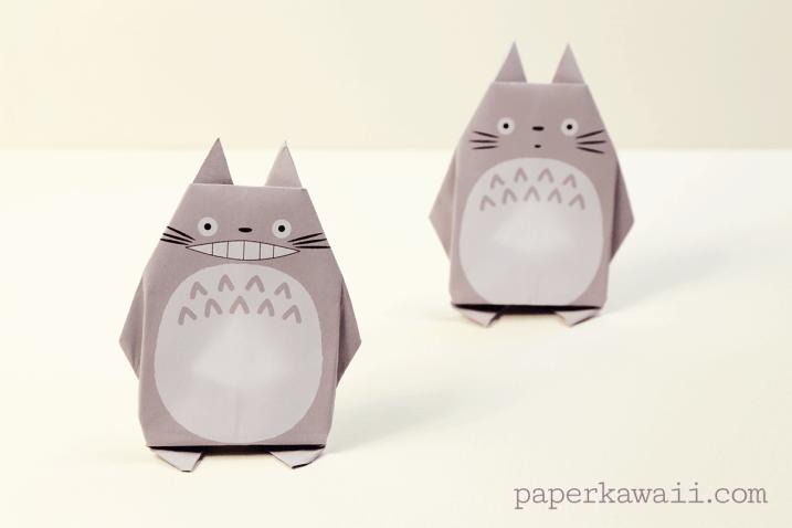 origami totoro tutorial amp free printable paper paper kawaii