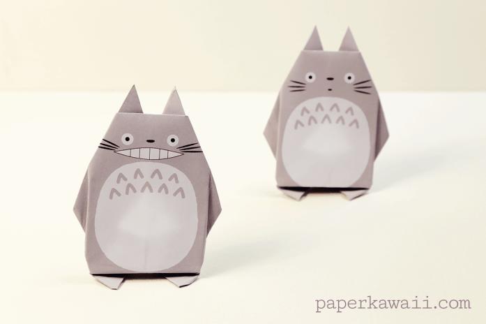 Origami Totoro Tutorial & Free Printable Paper via @paper_kawaii