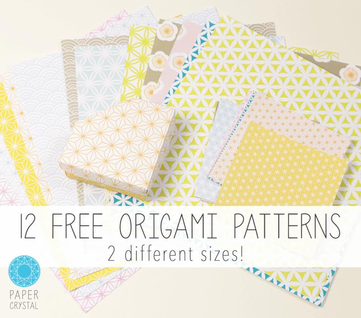 12 Free Printable Origami Papers! via @paper_kawaii
