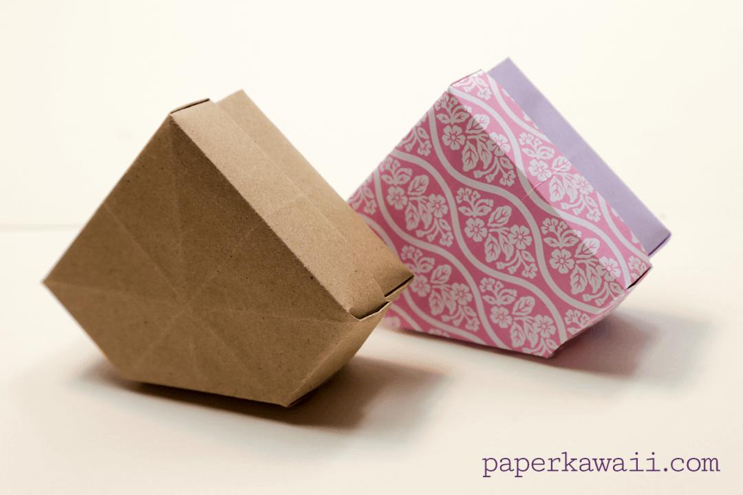Origami Gem Box & Lid Tutorial & Diagram via @paper_kawaii