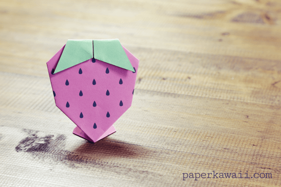 Origami Strawberry Tutorial & Free Printable