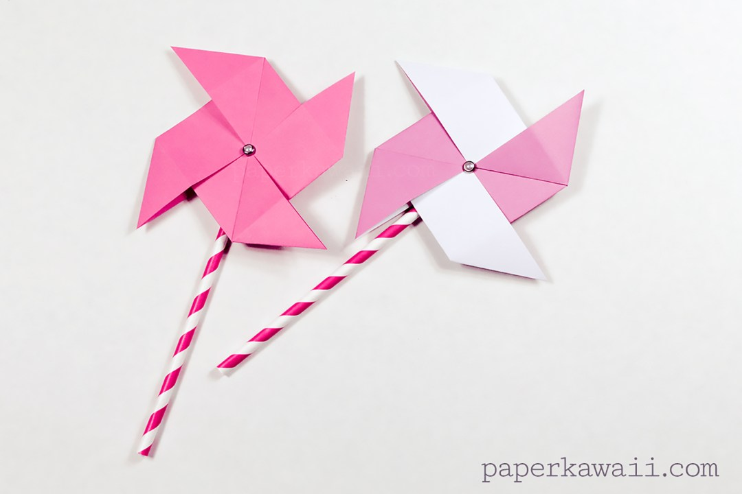 Learn How To Make A Traditional Origami Pinwheel You Just Need Pin And Straw If Youd Like Moving Decoration