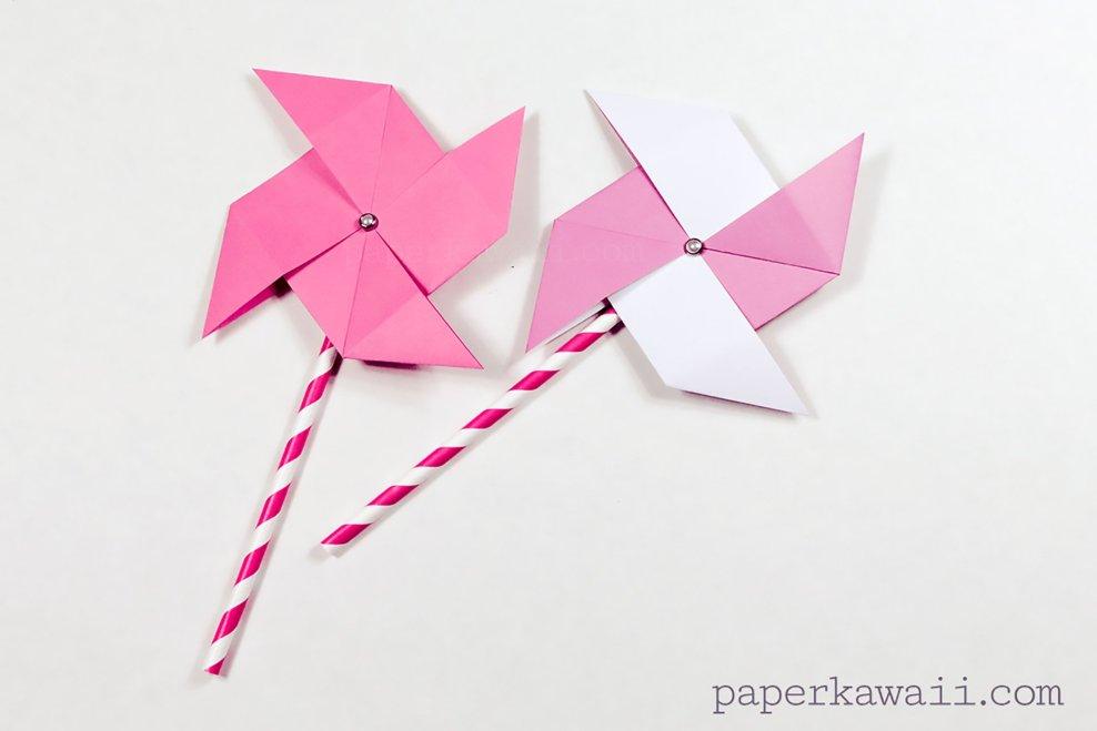 Traditional Origami Pinwheel Video Tutorial via @paper_kawaii