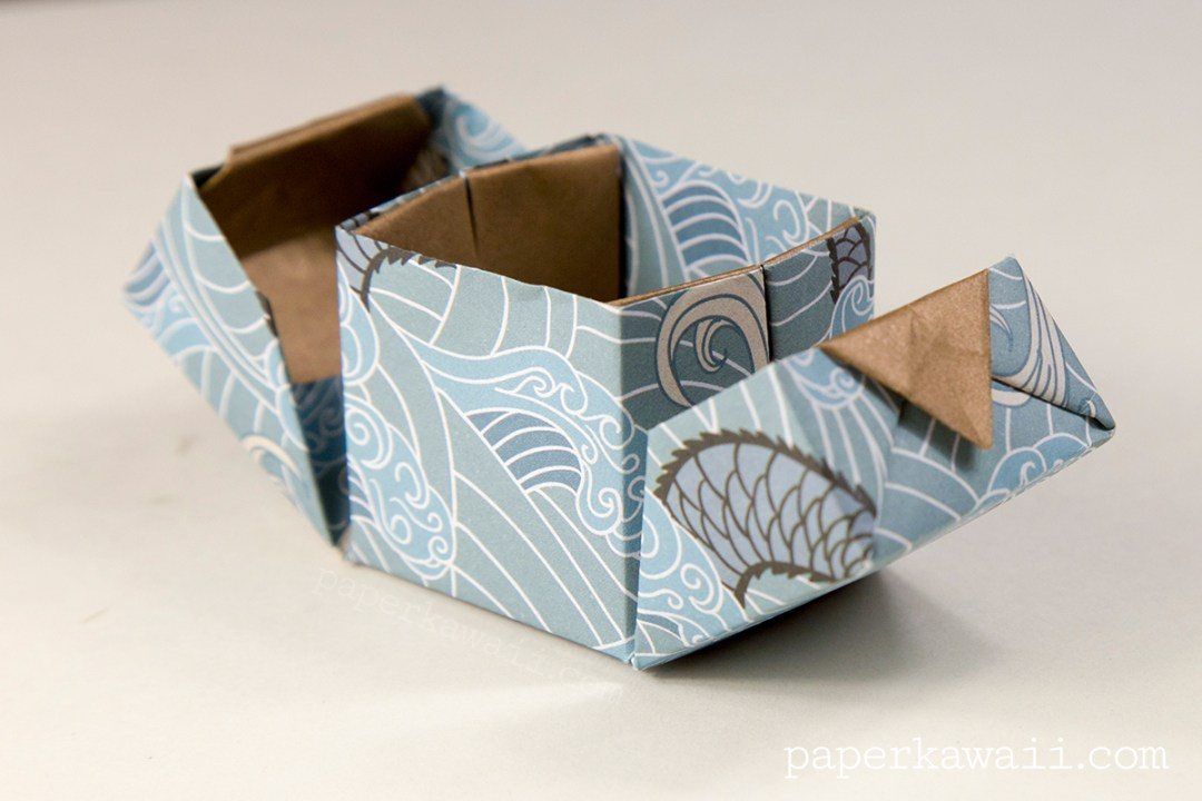 Origami Hinged Box Video Tutorial Paper Kawaii