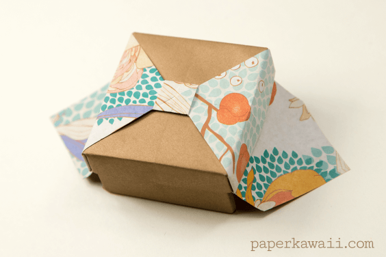 Origami Box With Bow Tutorial