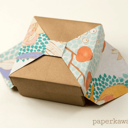 Origami Desk Organiser Tutorial - Nested Boxes via @paper_kawaii