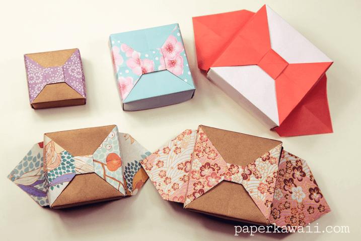 Origami Box with Bow - Tutorial via @paper_kawaii