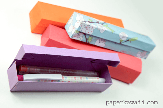 Origami Pencil Box Video Tutorial