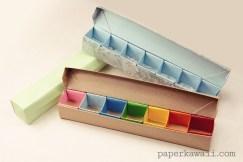 Origami Pill Box / Organizer Video Tutorial via @paper_kawaii