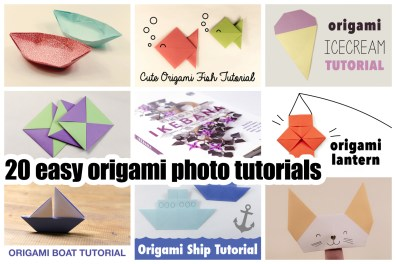 20 Easy Origami Photo Tutorials at About.com