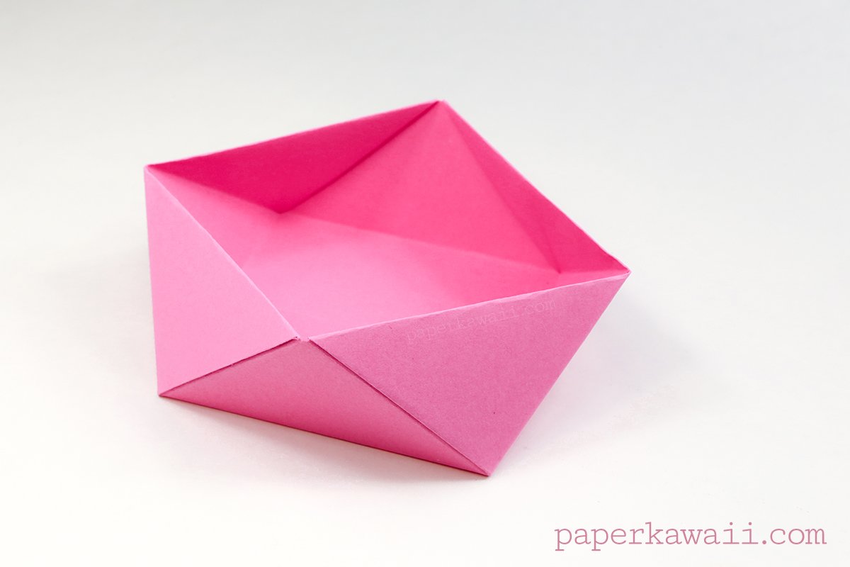 Traditional Origami Square Bowl / Box Instructions - photo#16
