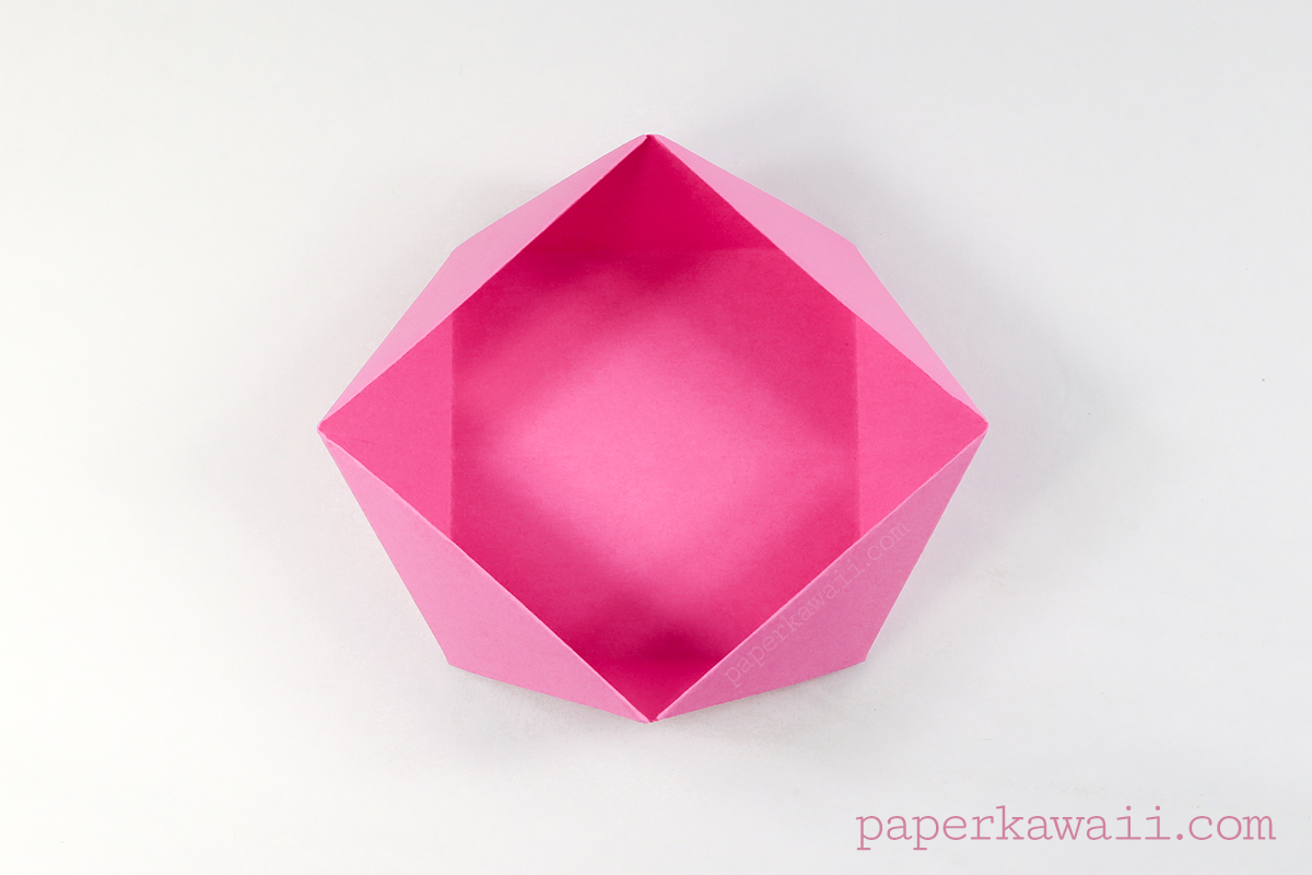 Traditional Origami Square Bowl Box Instructions