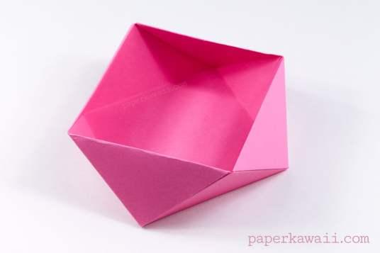 Traditional Origami Square Bowl / Box Instructions via @paper_kawaii